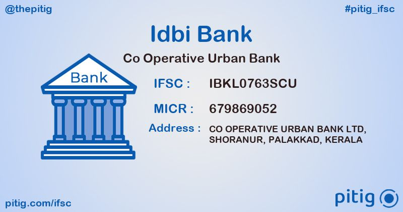 IBKL0763SCU CO OPERATIVE URBAN BANK ifsc code