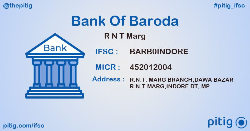 BARB0INDORE R N T MARG ifsc code