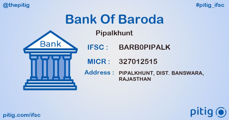 BARB0PIPALK PIPALKHUNT ifsc code