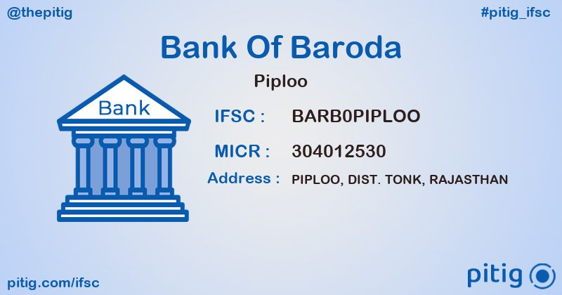 BARB0PIPLOO PIPLOO ifsc code