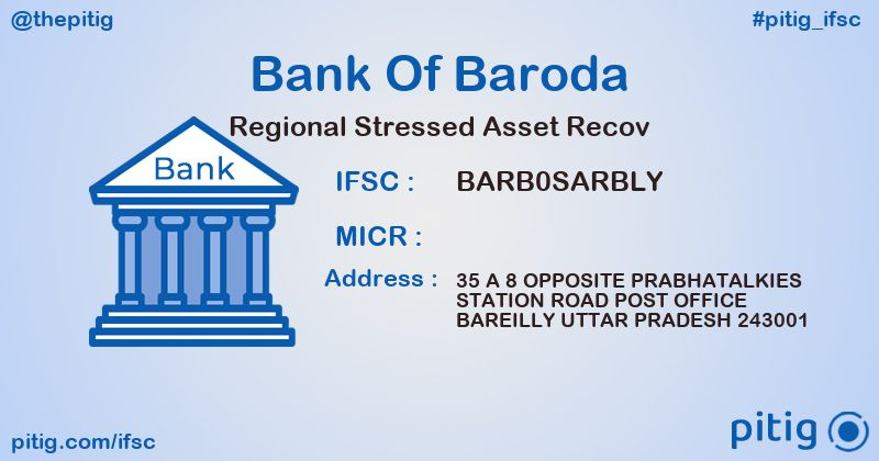 BARB0SARBLY REGIONAL STRESSED ASSET RECOV ifsc code