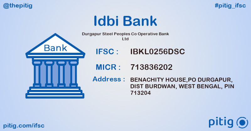 IBKL0256DSC DURGAPUR STEEL PEOPLES CO OPERATIVE BANK LTD ifsc code